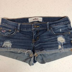 Hollister Distressed Cuffed Short Jean Shorts